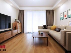现代风格 ▏107平原木治愈系两居婚房