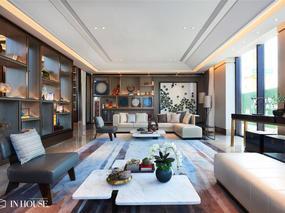章丘鲁能公馆1200㎡新中式风格售楼处软装项目——INHOUSE设计只负责软装部分