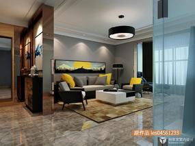 【3D效果图点评第6期】现代简约客厅
