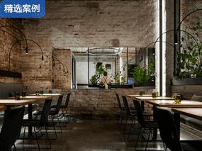 餐厅空间设计-【工业风素食餐厅】-成都餐厅装修设计