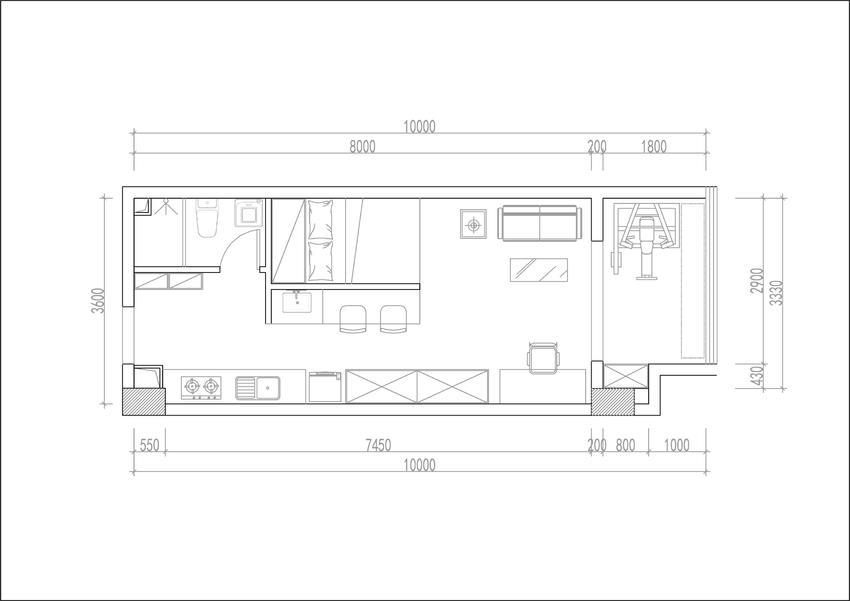 CAD平面布局