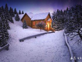 来发雪景,包括源文件,贴图灯光齐全